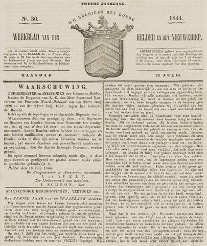 Weekblad van Den Helder en het Nieuwediep 1844-07-22