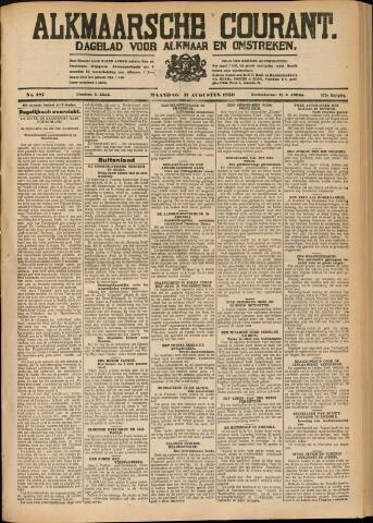 Alkmaarsche Courant 1930-08-11
