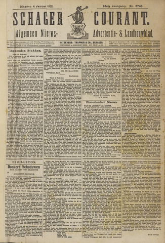 Schager Courant 1921