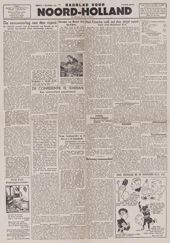 Dagblad Noord-Holland, Schager editie 1943-12-07