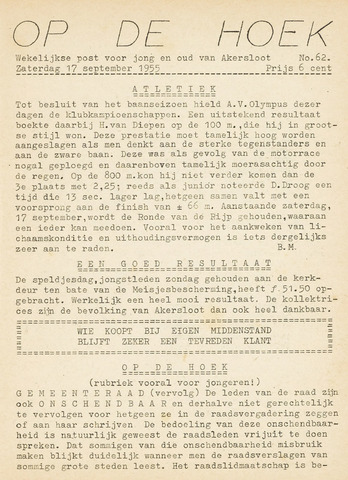 Op De Hoek, weekblad voor Akersloot 1955-09-17