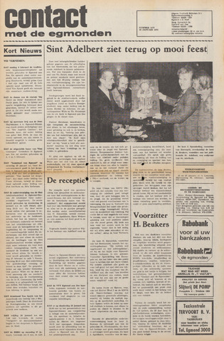 Contact met de Egmonden 1975-01-22