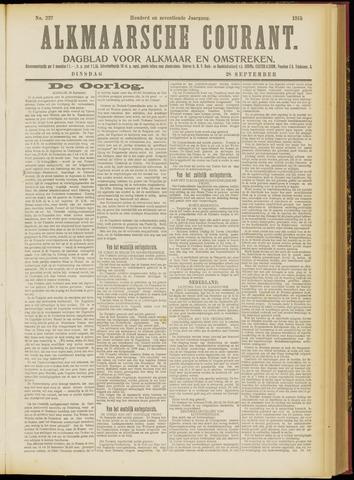 Alkmaarsche Courant 1915-09-28