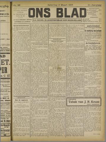 Ons Blad : katholiek nieuwsblad voor N-H 1917-03-03