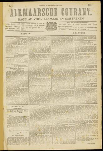 Alkmaarsche Courant 1914-01-02