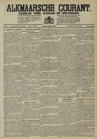 Alkmaarsche Courant 1937-04-09