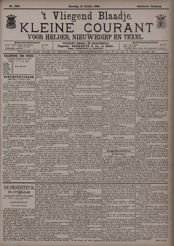 Vliegend blaadje : nieuws- en advertentiebode voor Den Helder 1890-10-18