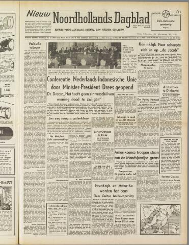 Nieuw Noordhollandsch Dagblad : voor Alkmaar en omgeving 1950-11-21