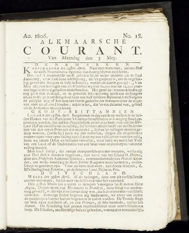 Alkmaarsche Courant 1806-05-05