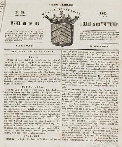 Weekblad van Den Helder en het Nieuwediep 1846-09-21