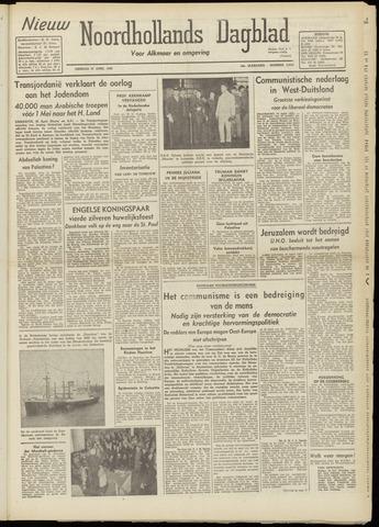 Nieuw Noordhollandsch Dagblad : voor Alkmaar en omgeving 1948-04-27