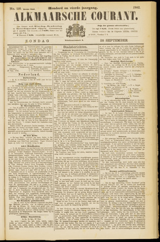 Alkmaarsche Courant 1902-09-28