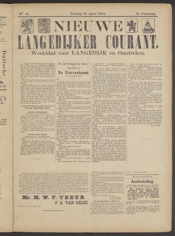 Nieuwe Langedijker Courant 1894-04-22