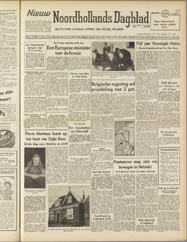 Nieuw Noordhollandsch Dagblad : voor Alkmaar en omgeving 1950-10-24