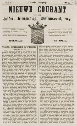 Nieuwe Courant van Den Helder 1862-04-23