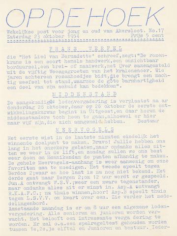 Op De Hoek, weekblad voor Akersloot 1954-10-23