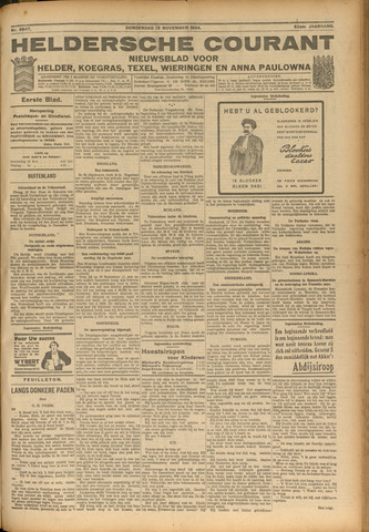 Heldersche Courant 1924-11-13