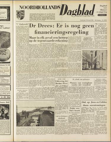 Noordhollands Dagblad : dagblad voor Alkmaar en omgeving 1953-02-12