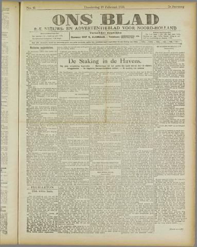 Ons Blad : katholiek nieuwsblad voor N-H 1920-02-19