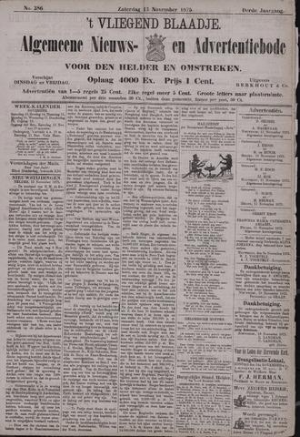 Vliegend blaadje : nieuws- en advertentiebode voor Den Helder 1875-11-13