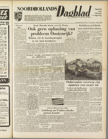 Noordhollands Dagblad : dagblad voor Alkmaar en omgeving 1954-02-13