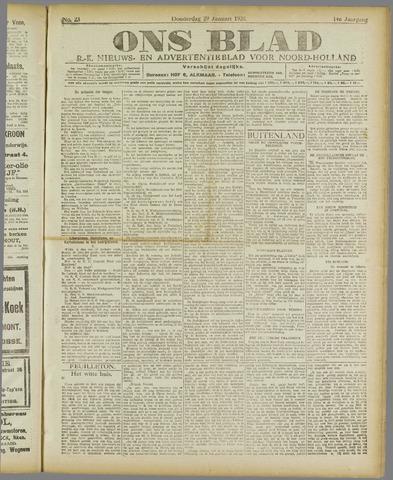 Ons Blad : katholiek nieuwsblad voor N-H 1920-01-29