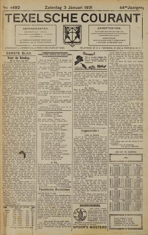 Texelsche Courant 1931-01-03