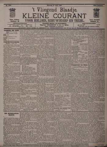 Vliegend blaadje : nieuws- en advertentiebode voor Den Helder 1895-04-27