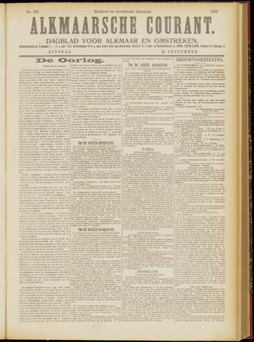Alkmaarsche Courant 1915-09-21