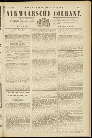 Alkmaarsche Courant 1889-02-22