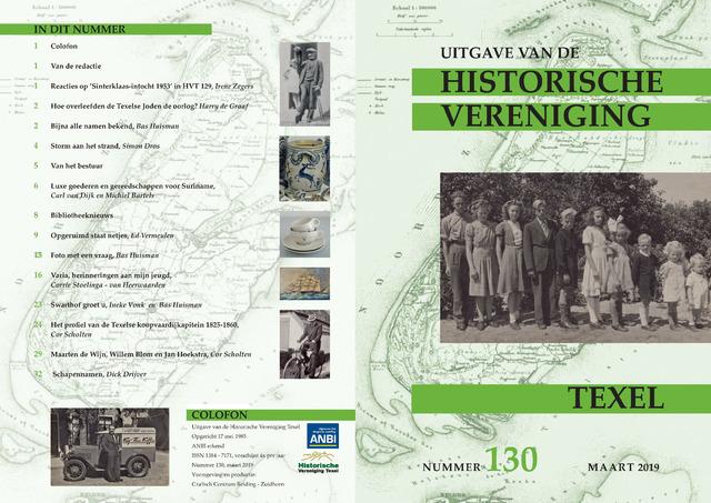 Uitgave Historische Vereniging Texel 2019-03-01