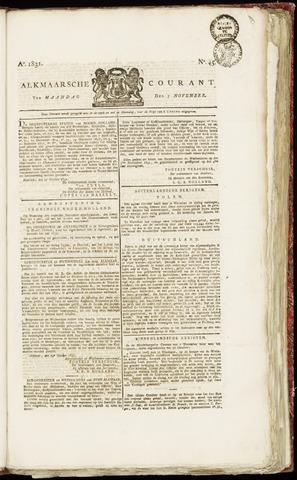 Alkmaarsche Courant 1831-11-07