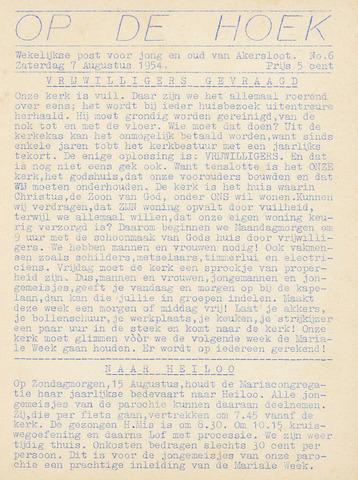 Op De Hoek, weekblad voor Akersloot 1954-08-07