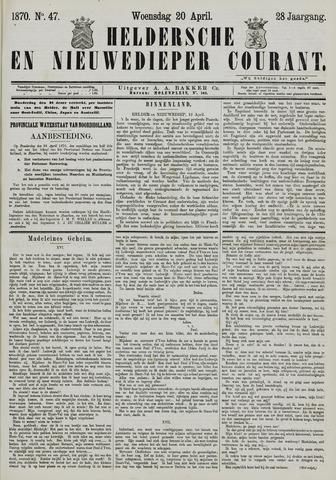 Heldersche en Nieuwedieper Courant 1870-04-20