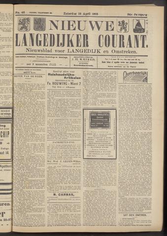 Nieuwe Langedijker Courant 1925-04-18