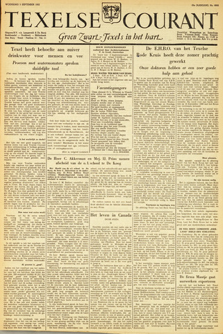 Texelsche Courant 1952-09-03