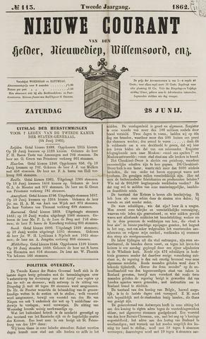 Nieuwe Courant van Den Helder 1862-06-28