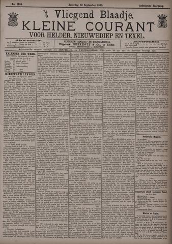 Vliegend blaadje : nieuws- en advertentiebode voor Den Helder 1890-09-13
