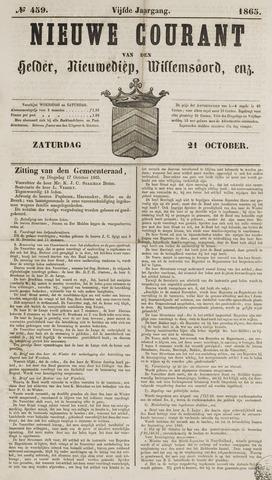 Nieuwe Courant van Den Helder 1865-10-21
