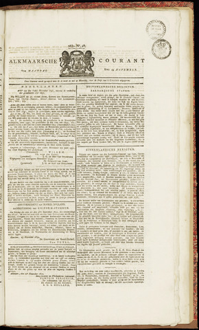 Alkmaarsche Courant 1830-11-29