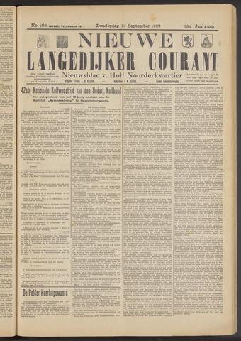 Nieuwe Langedijker Courant 1929-09-12