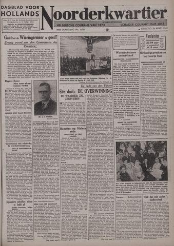 Dagblad voor Hollands Noorderkwartier 1942-04-28
