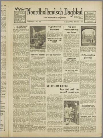 Nieuw Noordhollandsch Dagblad : voor Alkmaar en omgeving 1946-07-03