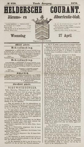 Heldersche Courant 1870-04-27