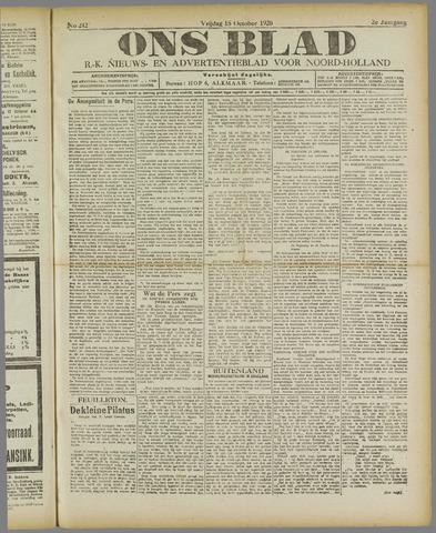 Ons Blad : katholiek nieuwsblad voor N-H 1920-10-15