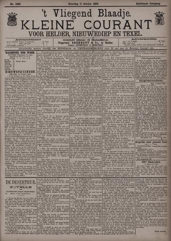 Vliegend blaadje : nieuws- en advertentiebode voor Den Helder 1890-10-11