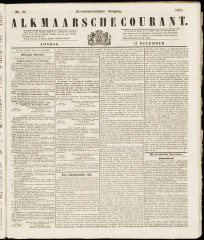 Alkmaarsche Courant 1875-12-12