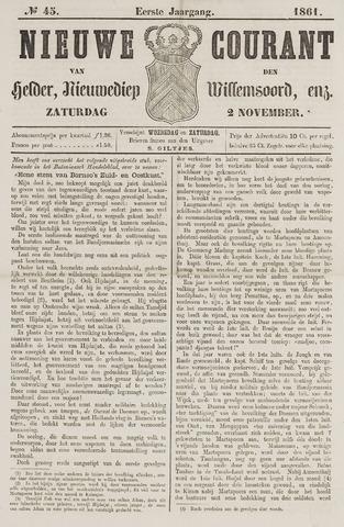 Nieuwe Courant van Den Helder 1861-11-02