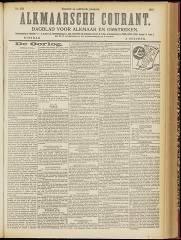 Alkmaarsche Courant 1916-10-03