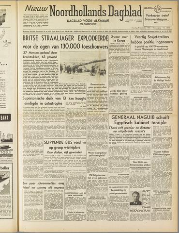 Nieuw Noordhollandsch Dagblad : voor Alkmaar en omgeving 1952-09-08
